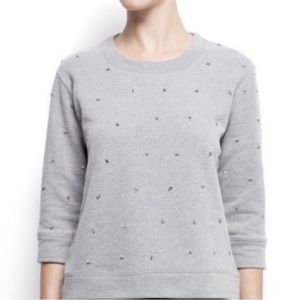 Asos Mango Sequined Grey Sweatshirt Size: S